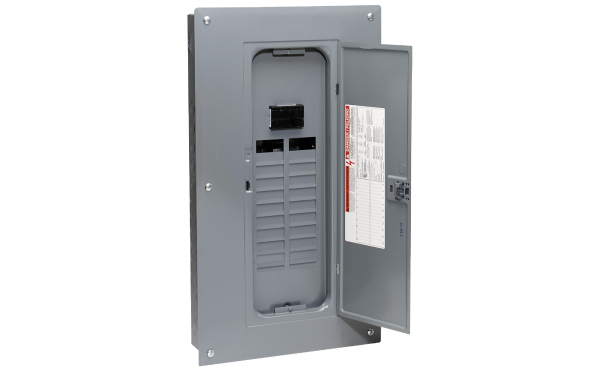 Square D Homeline 100A 20-Space 40-Circuit Indoor Main Breaker Plug-on Neutral Load Center