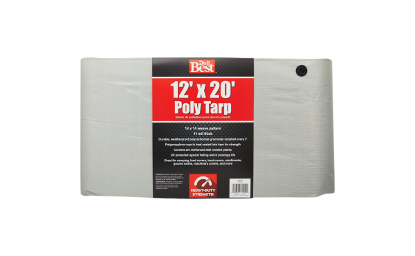 Do it Best Silver Woven Heavy Duty Poly Tarp Assorted Sizes