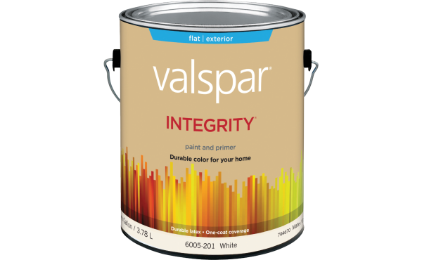 Valspar Integrity Latex Paint And Primer Exterior House Paint, White, 1 Gal.