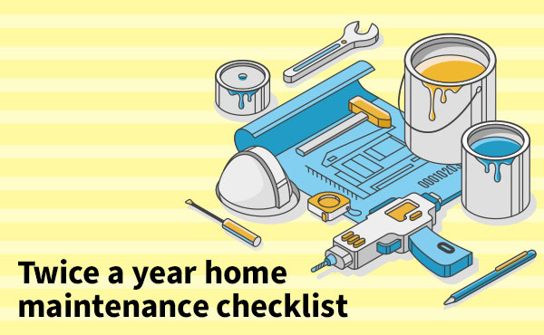 Twice a year home maintenance checklist